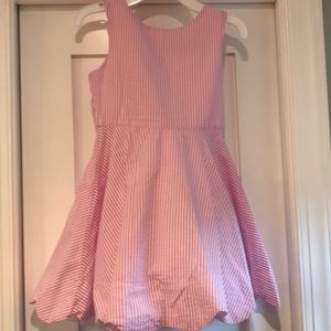 Rare Editions pink seersucker dress. Sz 8.